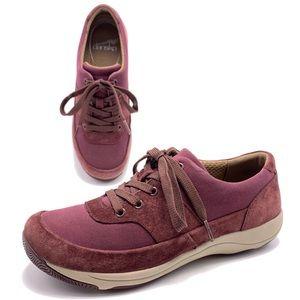 Dansko Hayden 37 Suede Lace Up Sneakers Oxfords